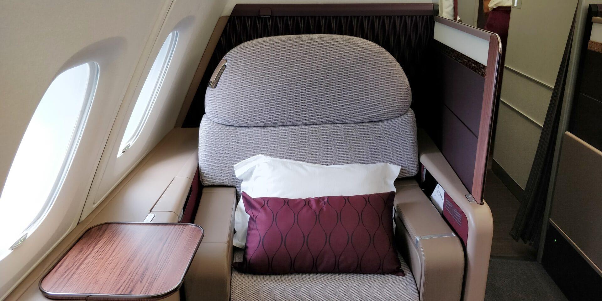 Qatar Airways First Class Airbus A380 Sitz 7