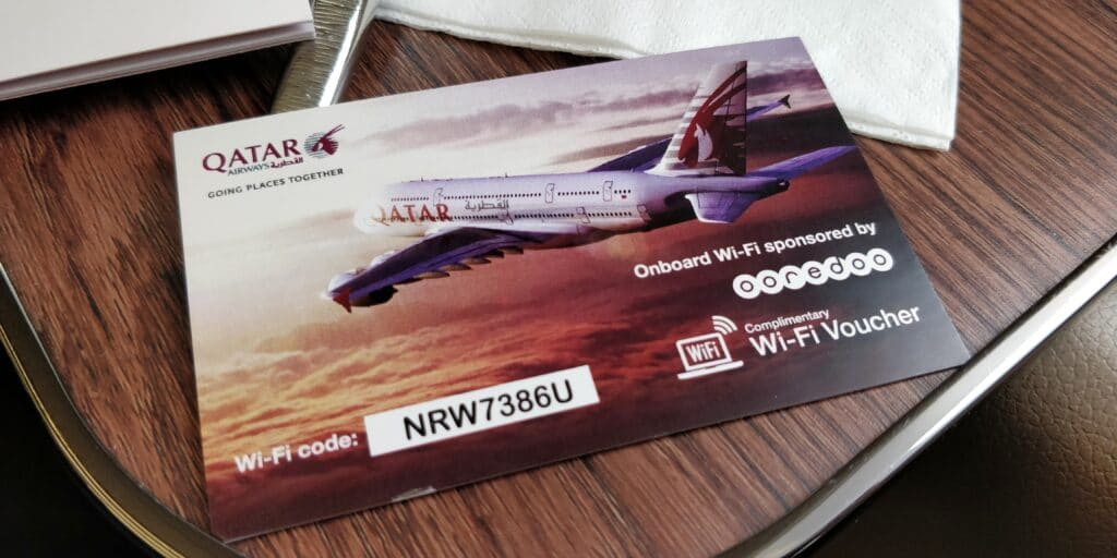 Qatar Airways First Class Airbus A380 WLAN
