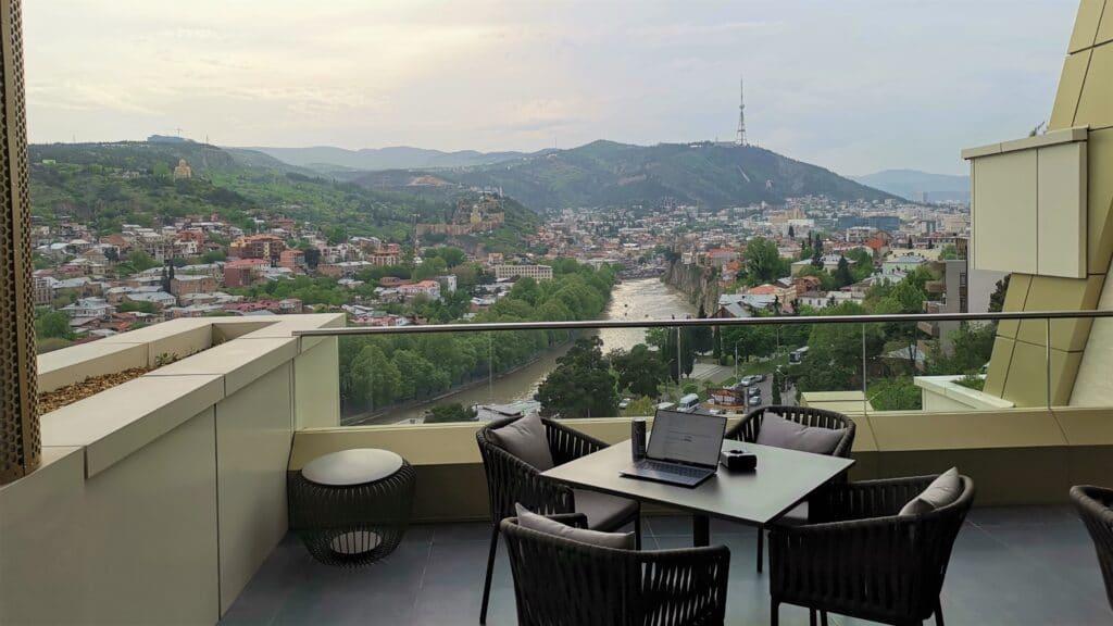 Sheraton Grand Tiflis Club Lounge Frühstück
