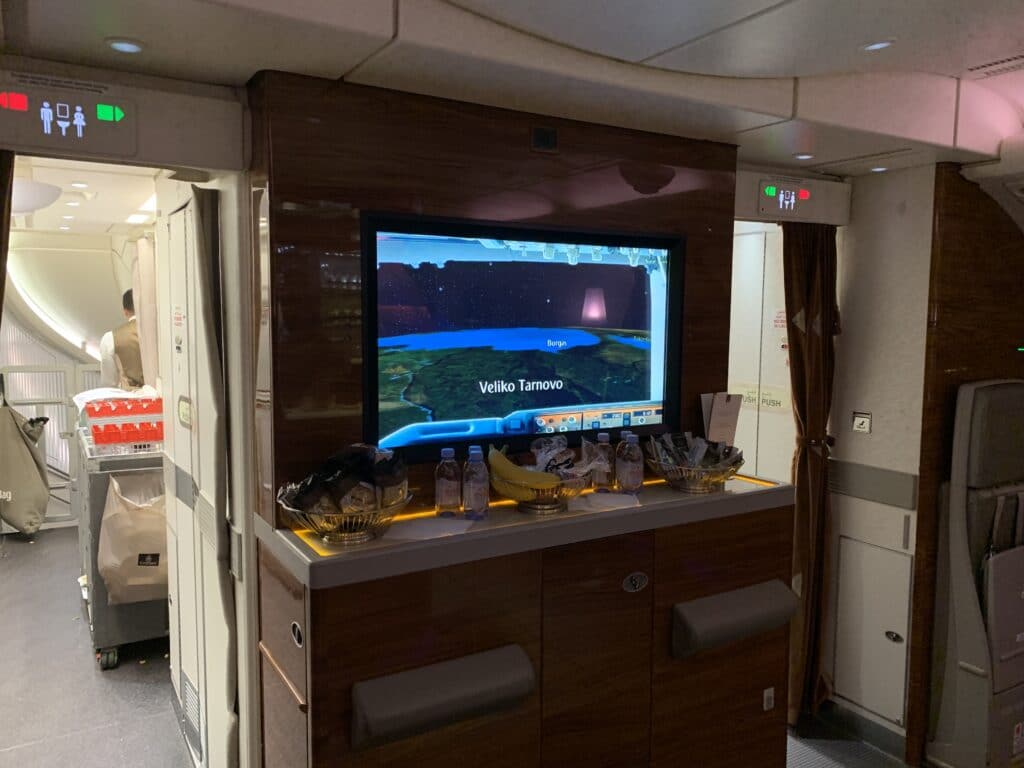 Emirates First Clas Airbus A380 Bar Area