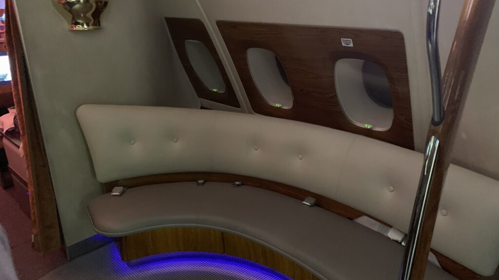 Emirates First Class Airbus A380 Bar Area