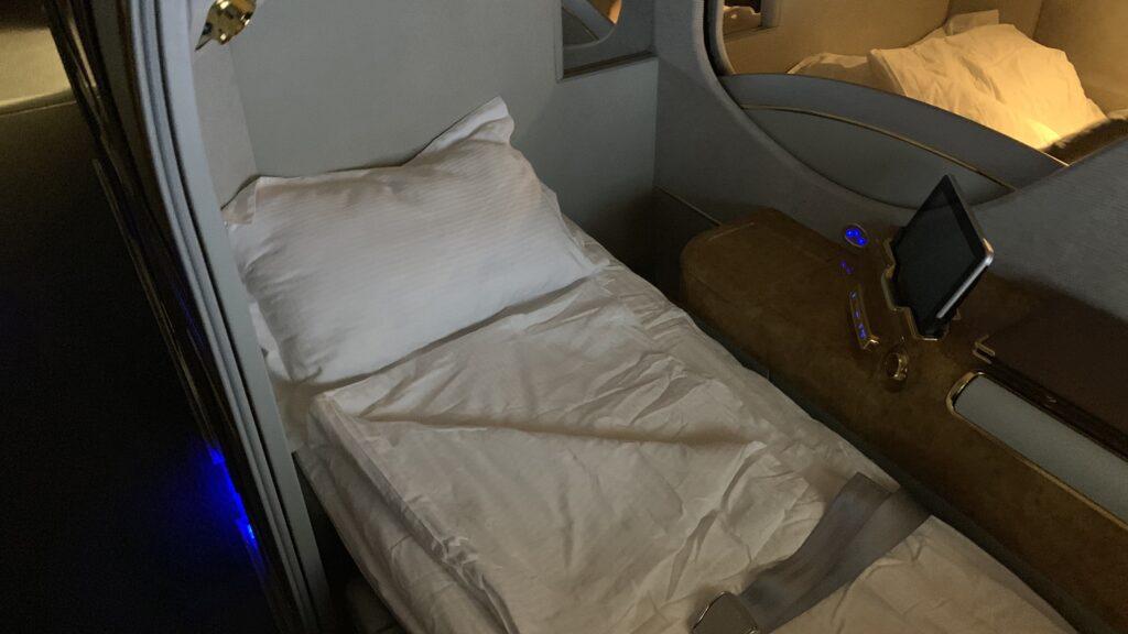 Emirates First Class Airbus A380 Bett