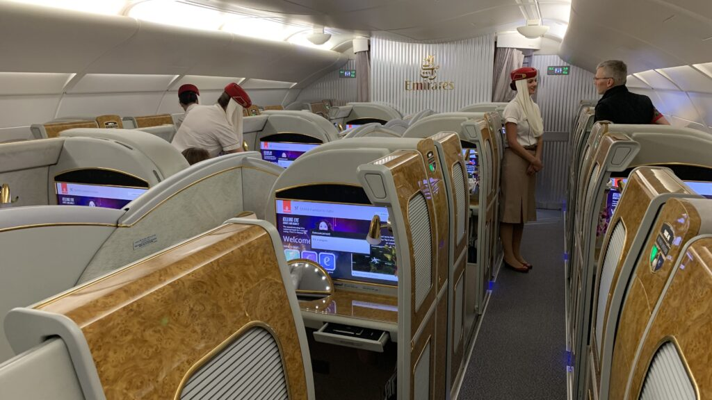 Emirates First Class Airbus A380 Kabine