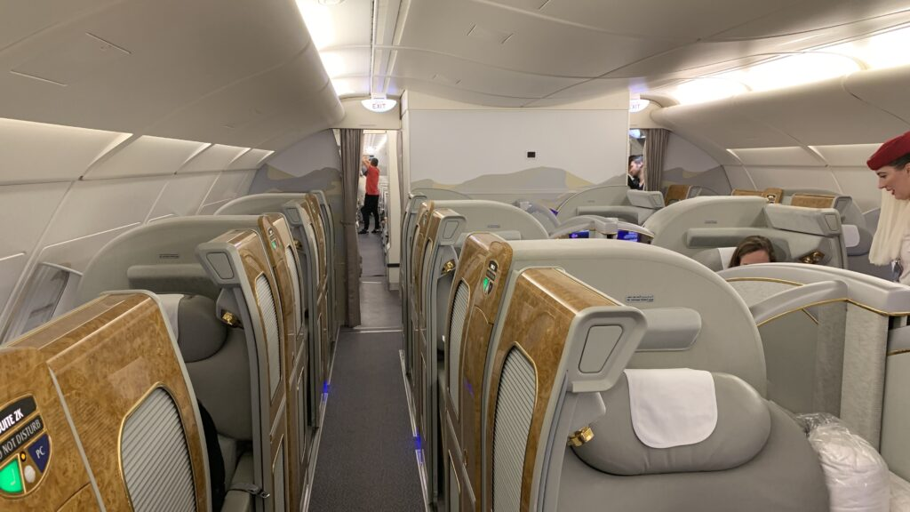 Emirates First Class Airbus A380 Kabine 2
