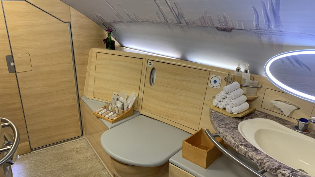Emirates First Class Airbus A380 Shower Spa