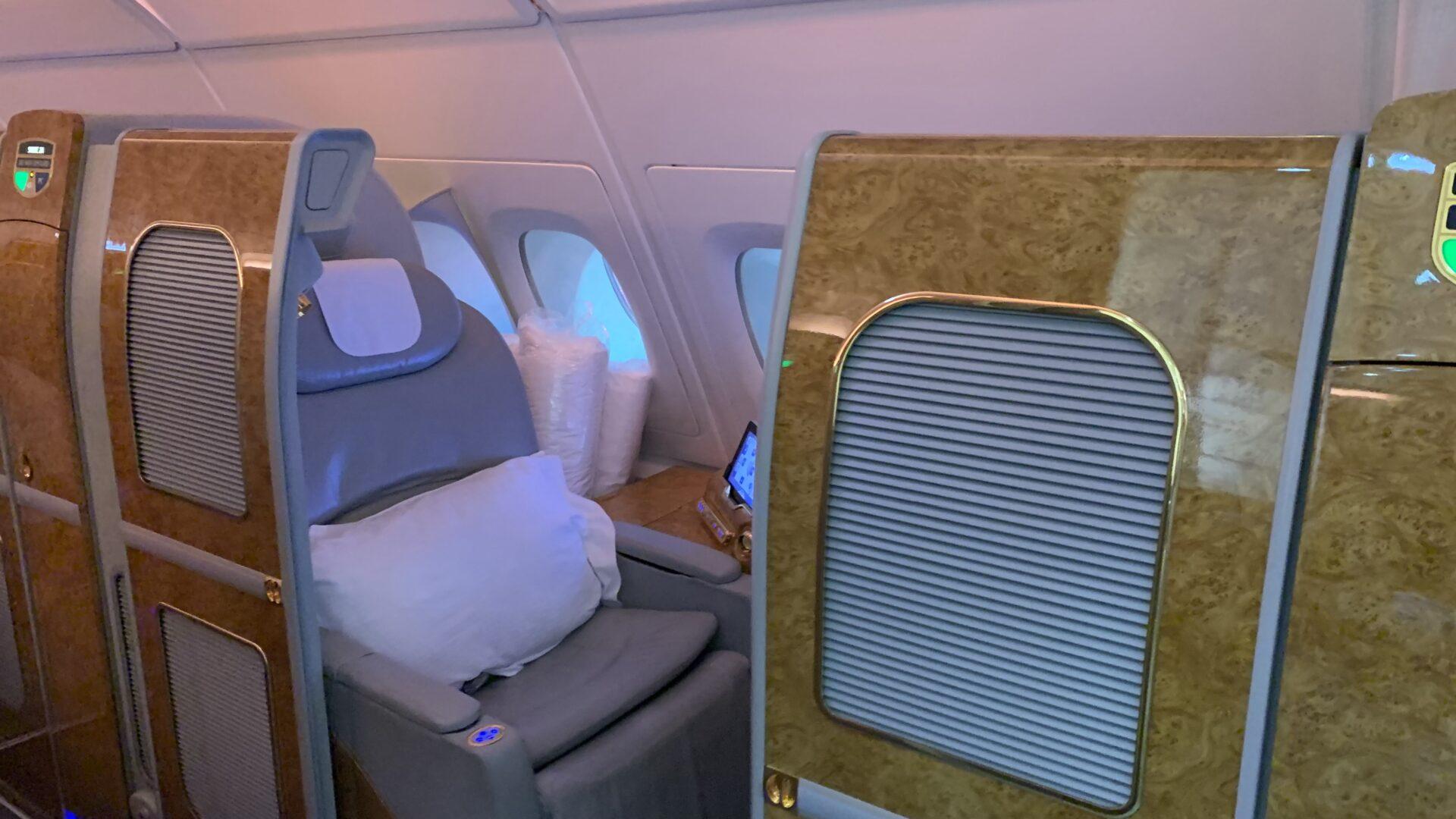 Emirates First Class Airbus A380 Suite Mit Türen