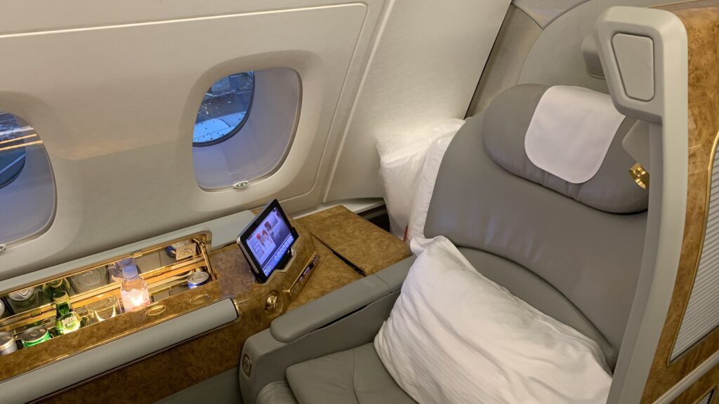 Emirates First Class Airbus A380 Suite Sitz