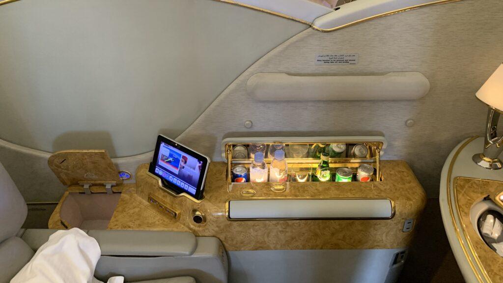 Emirates First Class Boeing 777 Minibar
