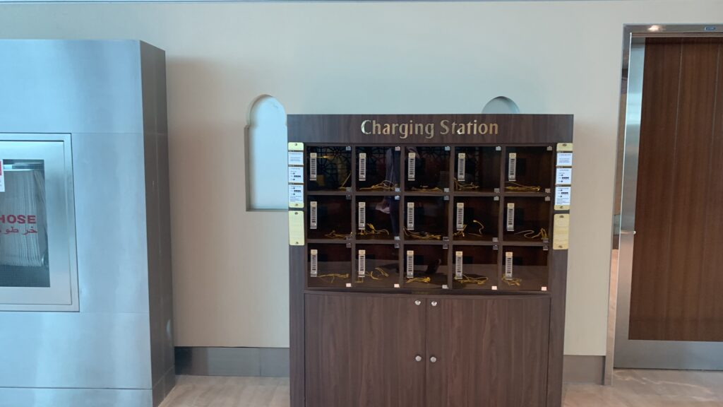 Emirates First Class Lounge Dubai B Charging Station