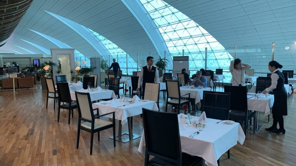 Emirates First Class Lounge Dubai B Restaurant