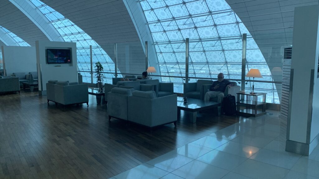 Emirates First Class Lounge Dubai B Sitze