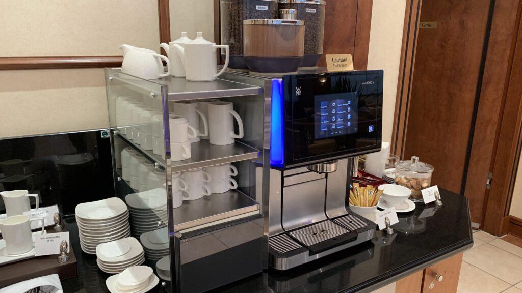 Emirates Lounge Frankfurt Kaffee