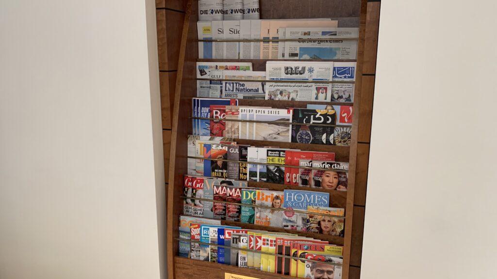 Emirates Lounge Frankfurt Zeitungen