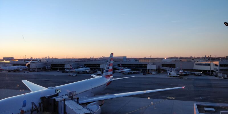American Airlines Flagship Lounge New York JFK Aussicht