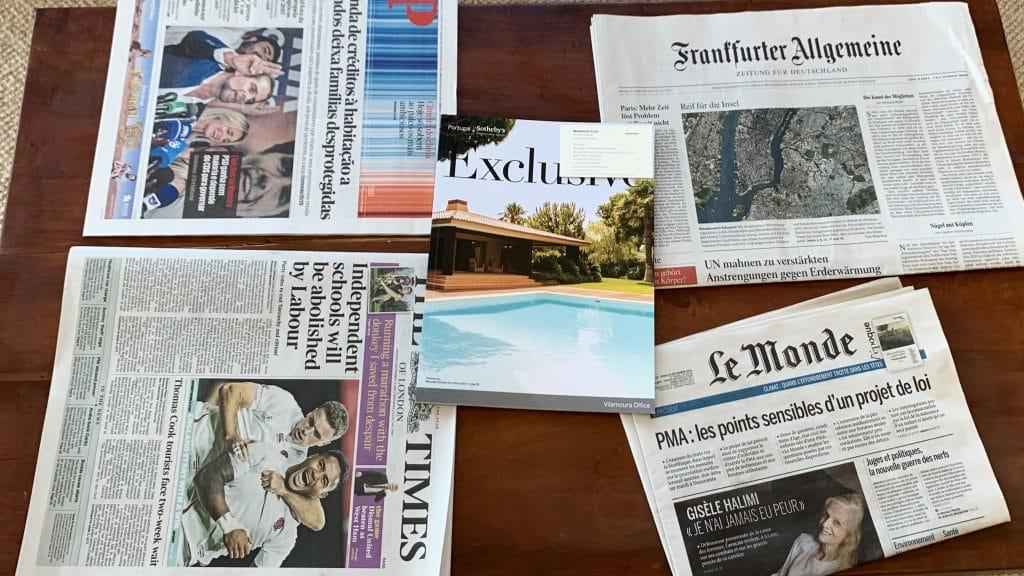 Anantara Vilamoura Zeitungen