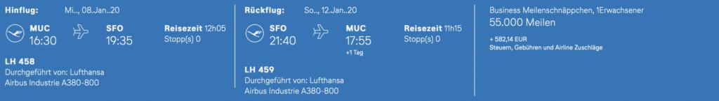 Lufthansa Meilenschnäppchen