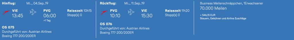 Austrian Meilenschnäppchen