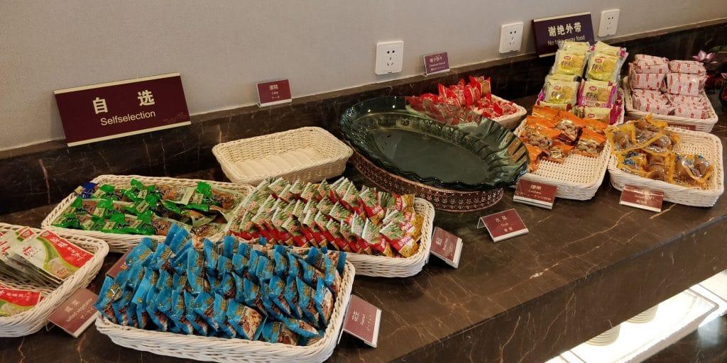 Business Class Lounge Dalian Buffet