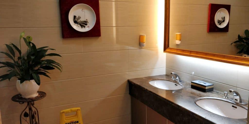 Business Class Lounge Dalian Toilette