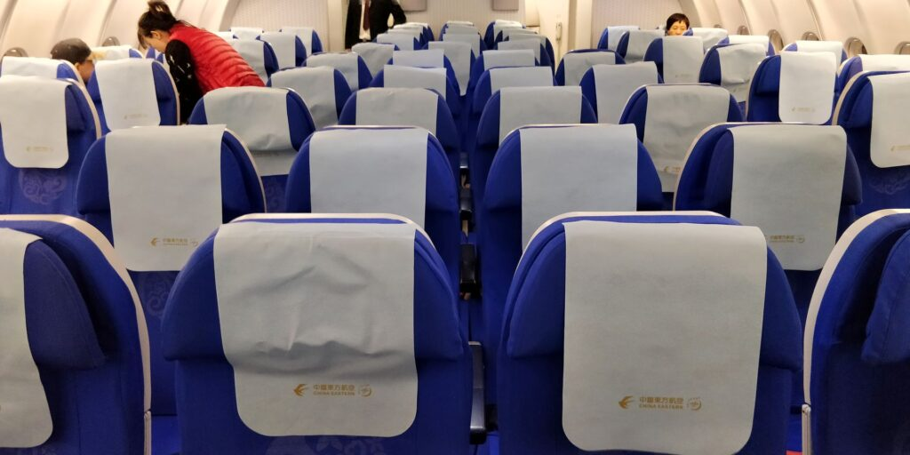 China Eastern Economy Class Langstrecke Sitz 2