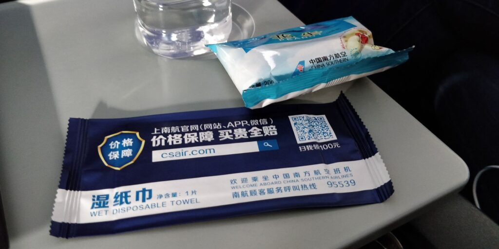 China Southern Airbus A320 Snack