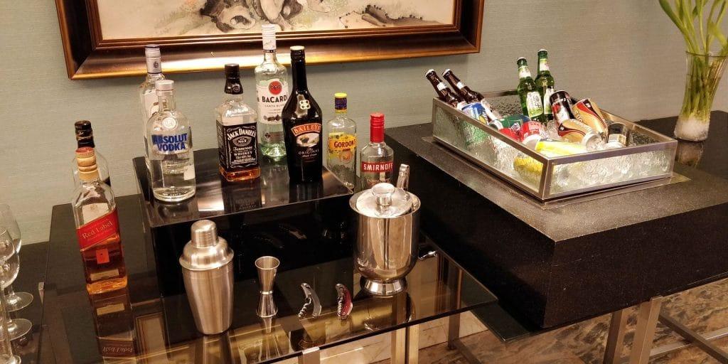 Conrad Dalian Lounge Abendessen