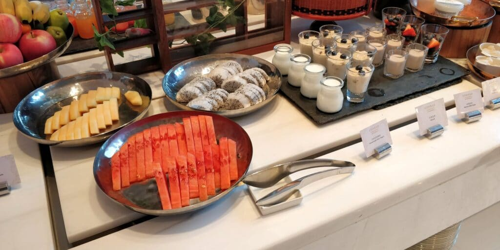 Conrad Guangzhou Lounge Frühstück 7