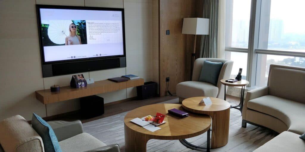 Conrad Guangzhou Suite Wohnzimmer