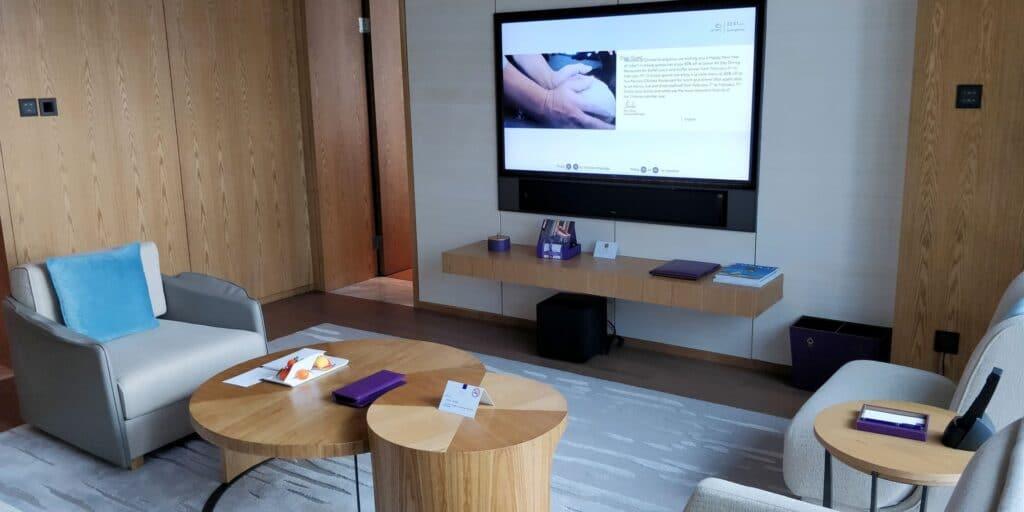Conrad Guangzhou Suite Wohnzimmer 2