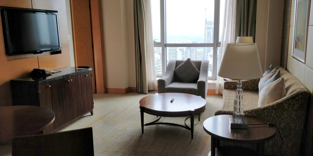 DoubleTree Shanghai Pudong Suite Wohnzimmer