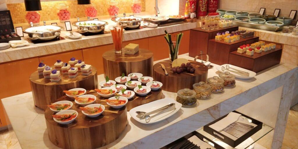 Hilton Guangzhou Baiyun Lounge Abendessen
