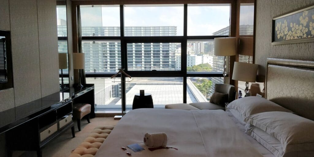 Hilton Guangzhou Baiyun Suite Schlafzimmer