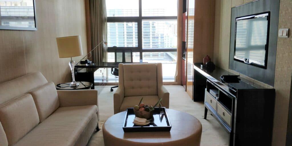 Hilton Guangzhou Baiyun Suite Wohnzimmer
