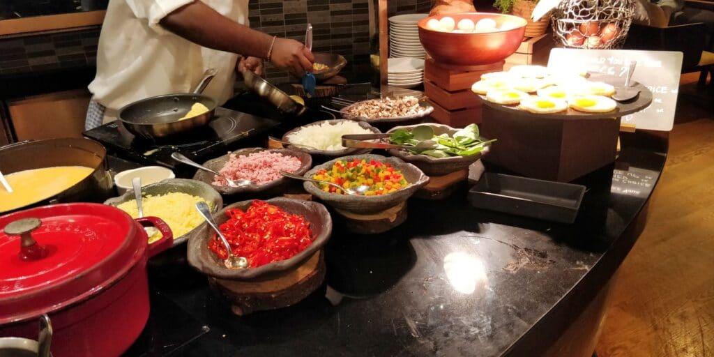 Hilton Singapur Frühstück