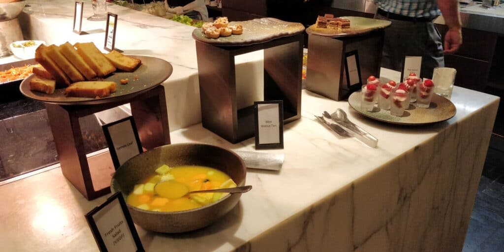 Hilton Singapur Lounge Abendessen 5