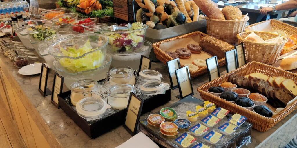 Hilton Suzhou Lounge Frühstück