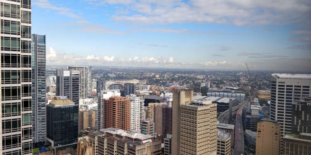 Hilton Sydney Lounge Ausblick 2