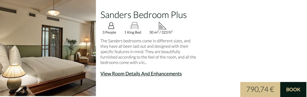 Hotel Sanders Bedroom Plus
