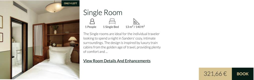 Hotel Sanders Single