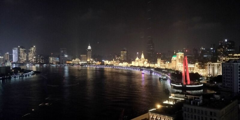 Hyatt On The Bund Shanghai Suite Ausblick Nacht