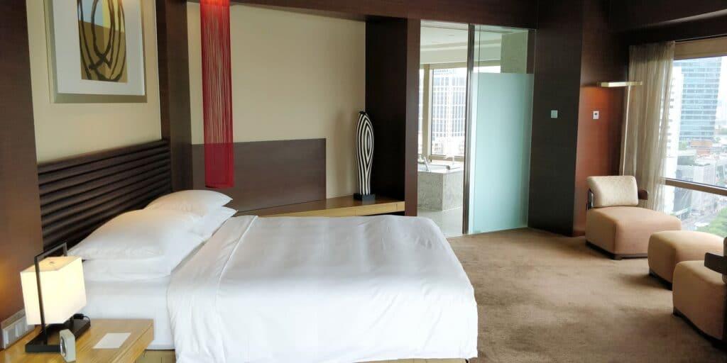 Hyatt On The Bund Shanghai Suite Schlafzimmer 2