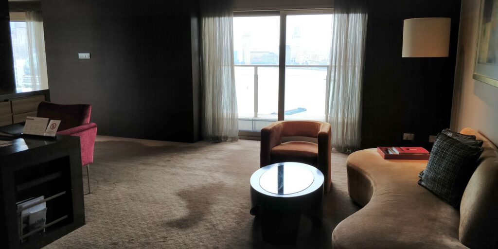 Hyatt On The Bund Shanghai Suite Wohnzimmer