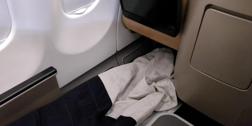 Qantas Business Class Airbus A330 Bett 2