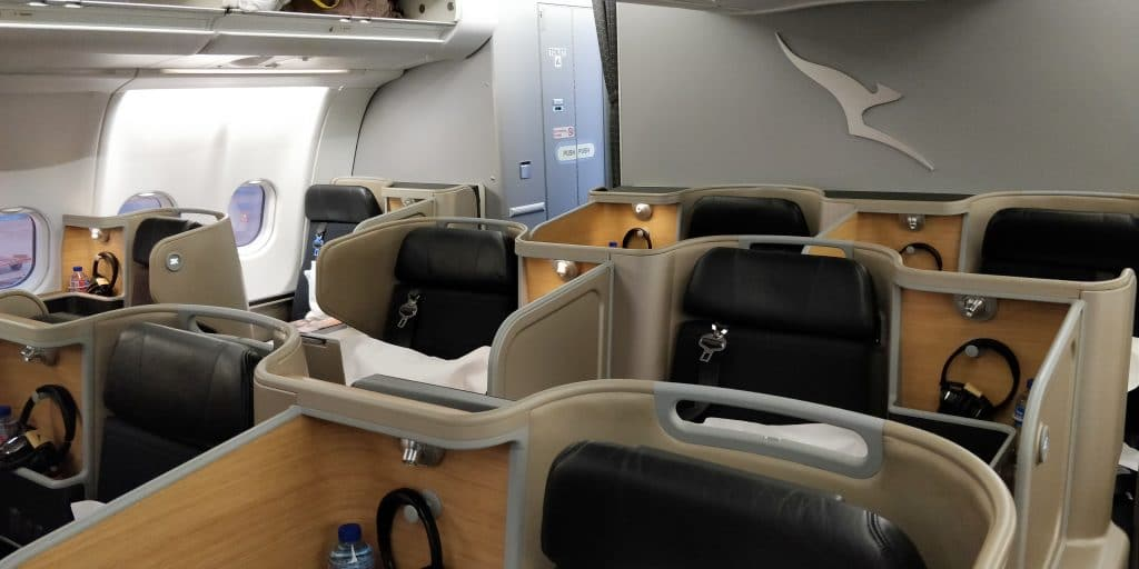 Qantas Business Class Airbus A330 Kabine 2
