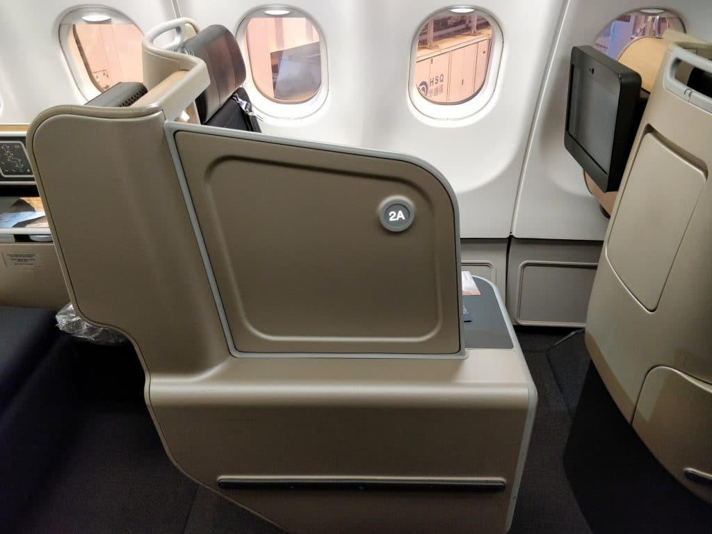Qantas Business Class Airbus A330 Sitz 10