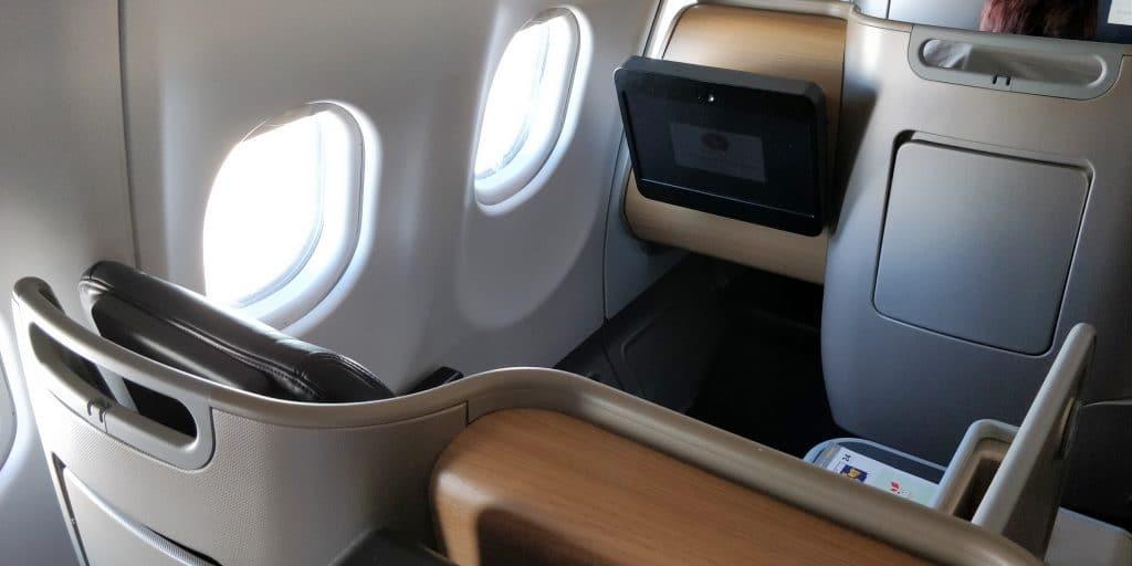 Qantas Business Class Airbus A330 Sitz 16