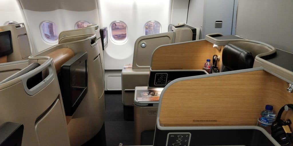 Qantas Business Class Airbus A330 Sitz 4