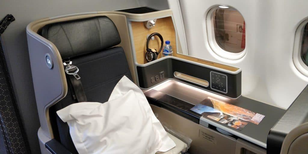 Qantas Business Class Airbus A330 Sitz 5