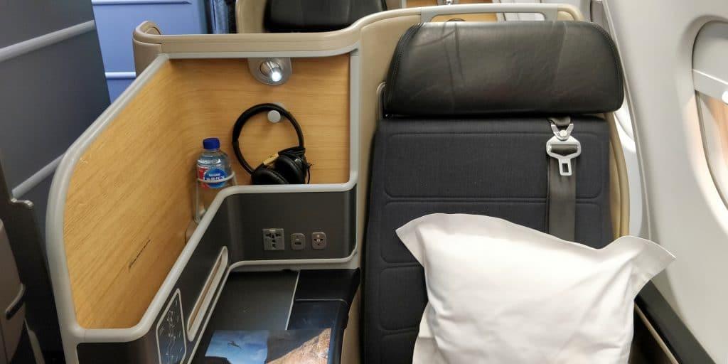 Qantas Business Class Airbus A330 Sitz 7
