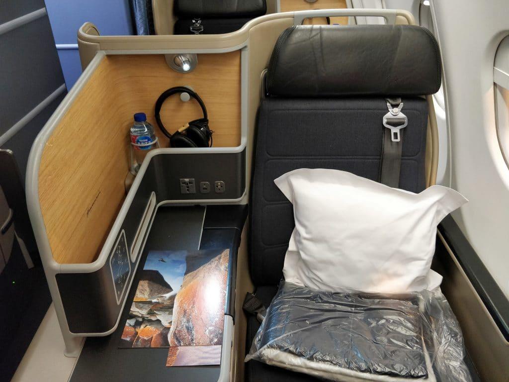 Qantas Business Class Airbus A330 Sitz 8